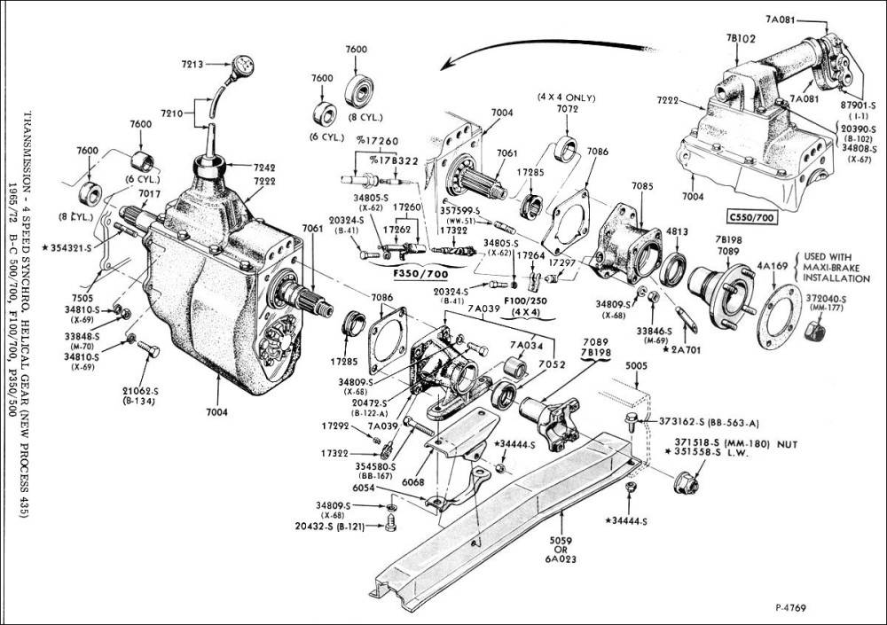 New Process 435 Fourspeed Transmission  Versatile f