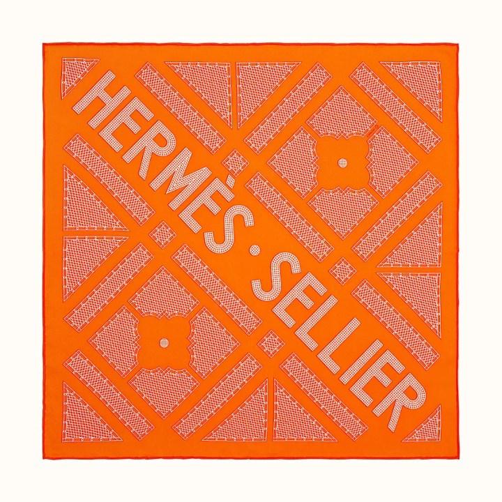 zoom image, Hermes Sellier scarf 45