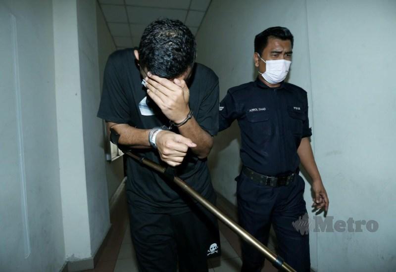 AZRAIE mengaku tidak bersalah di Mahkamah Majistret Petaling Jaya, hari ini. FOTO ROHANIS SHUKRI.