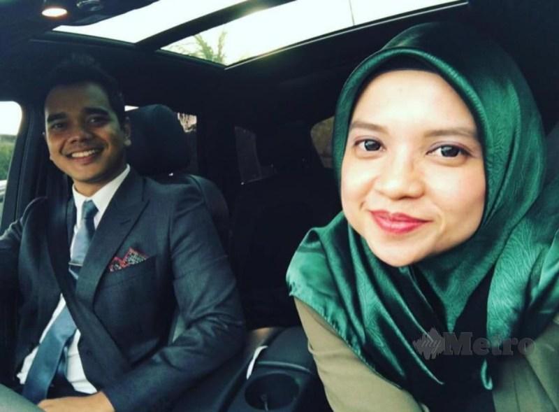 Alif dan pengurusnya Adlina.