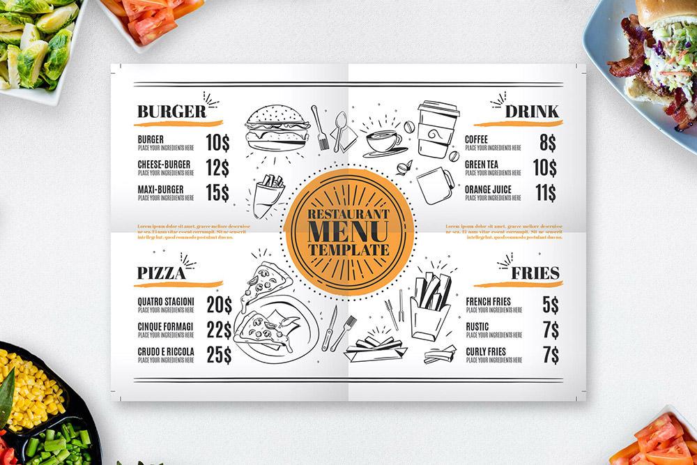 Шаблон меню ресторана от Envato