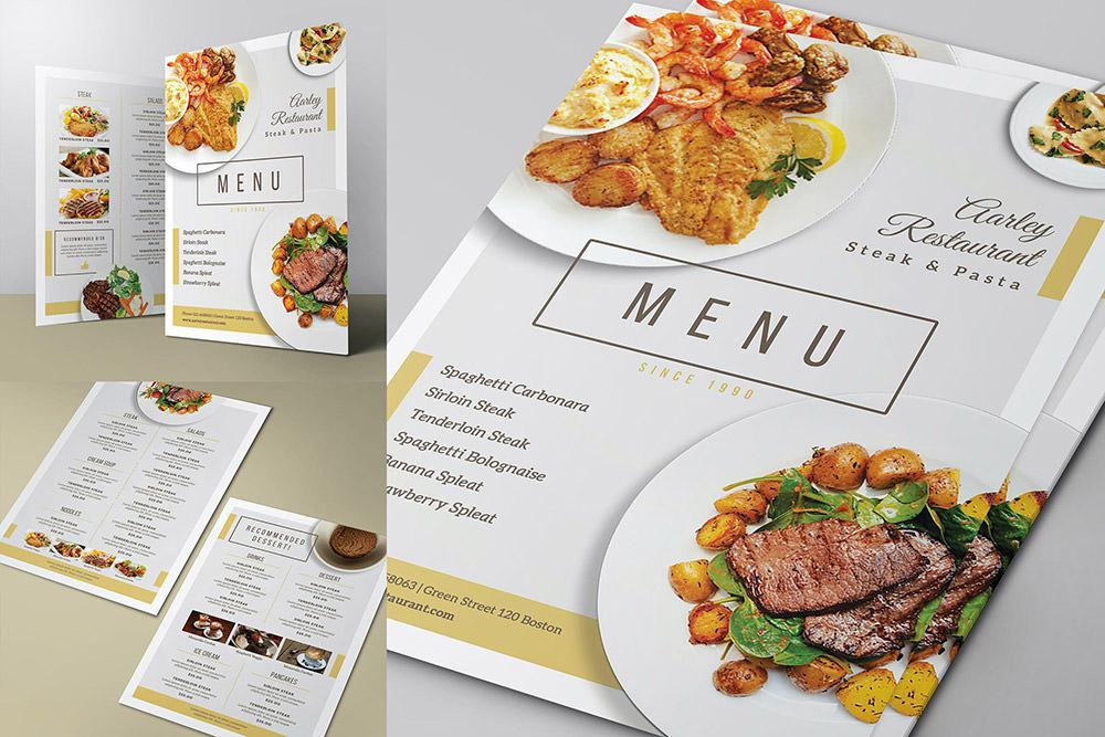 Простое меню ресторана от Envato