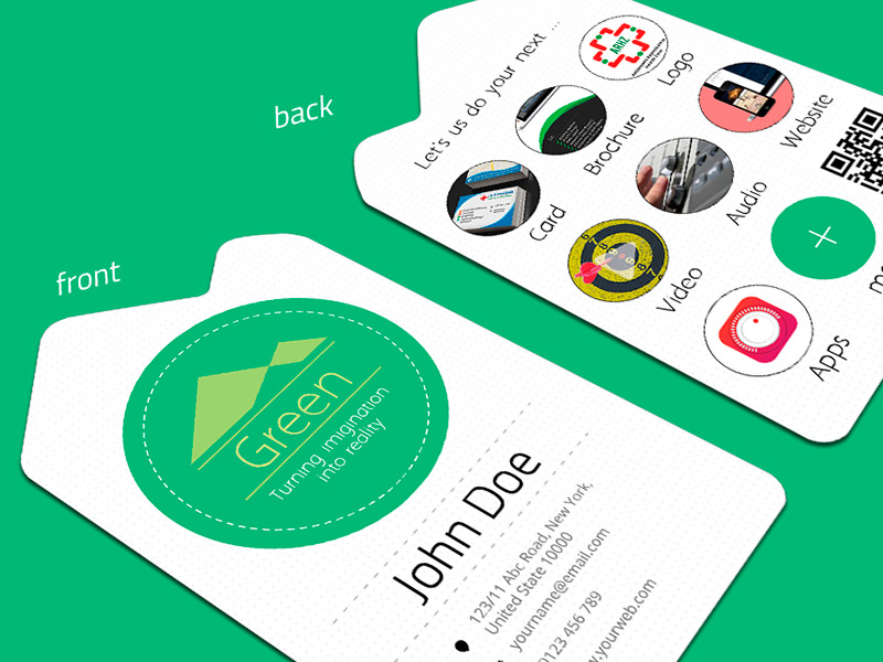 Природа Визитная карточка Дизайн