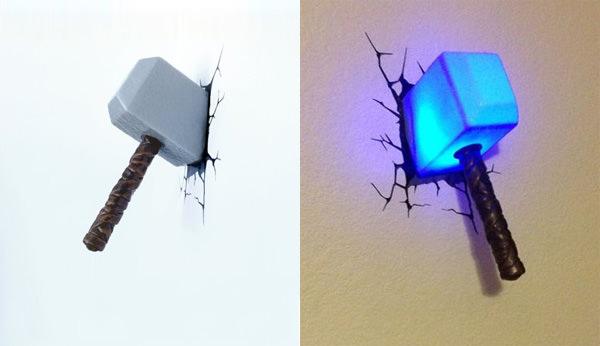 3D Wall Art Nightlight - Молот Тора