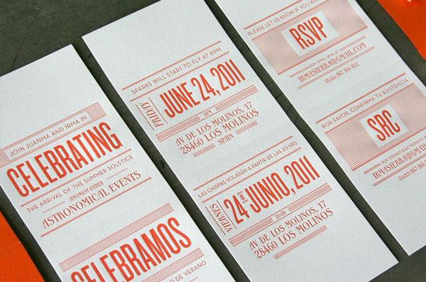 Letterpress Matchbook Invitations For A Summer Wedding