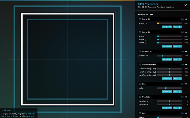 Terrain de jeu CSS Transform