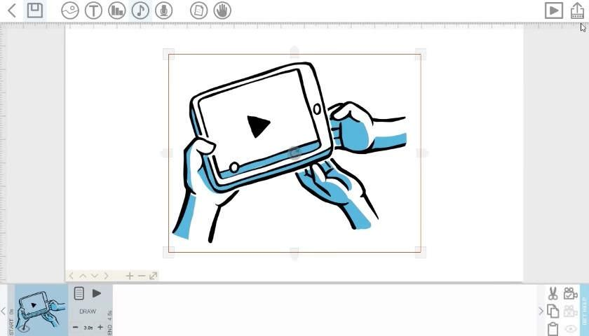 VideoScribe's interface to create explainers