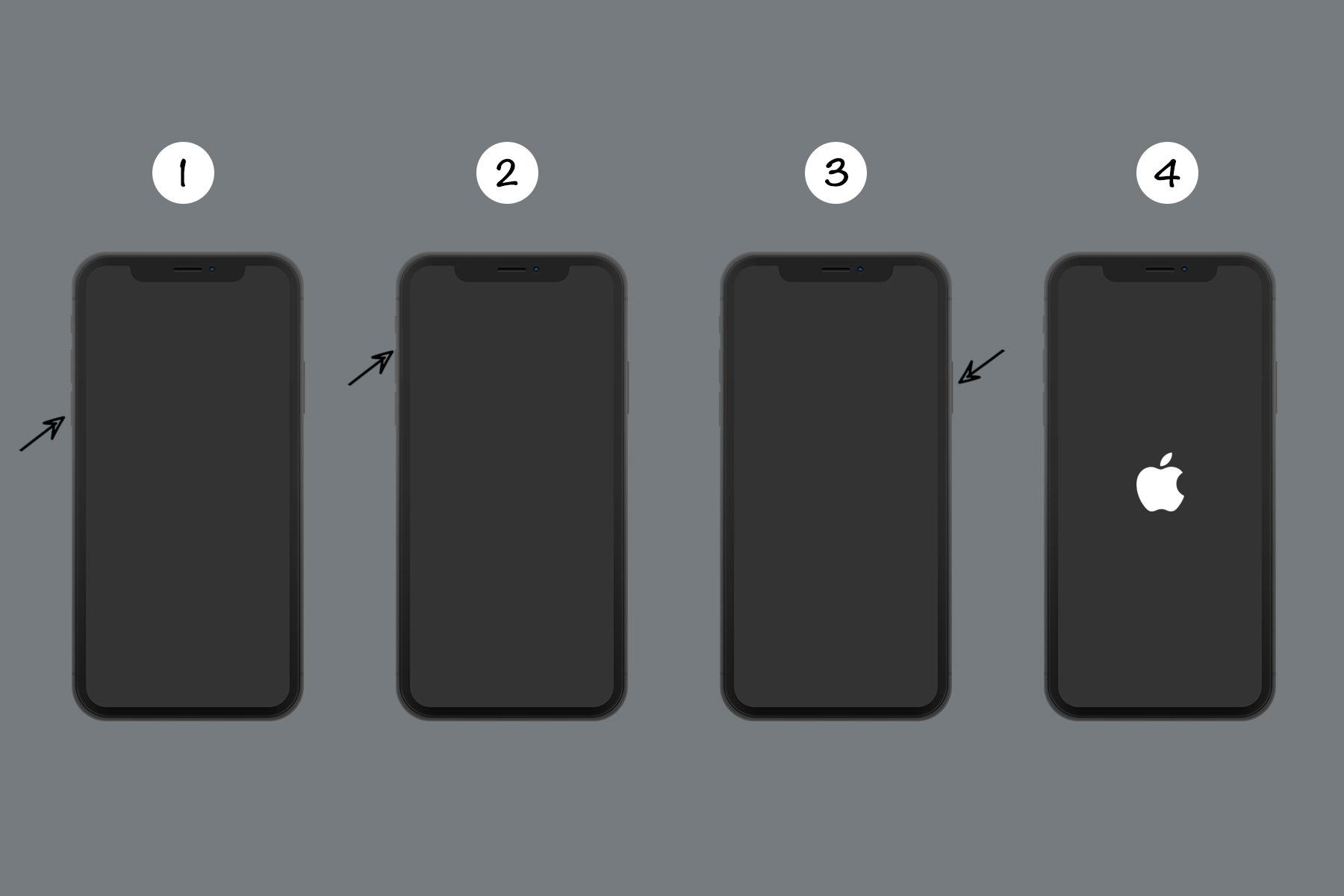force restart iphone 8, iphone x