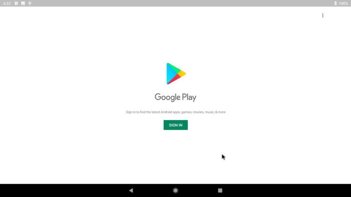 Bliss OS поддерживает Google Play Store
