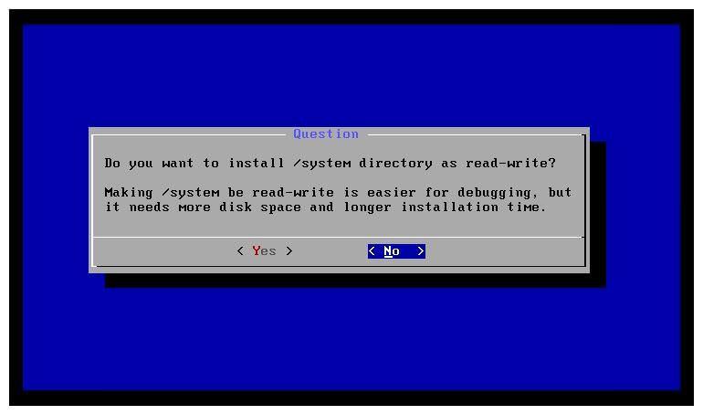 Сделать каталог / system доступным только для чтения