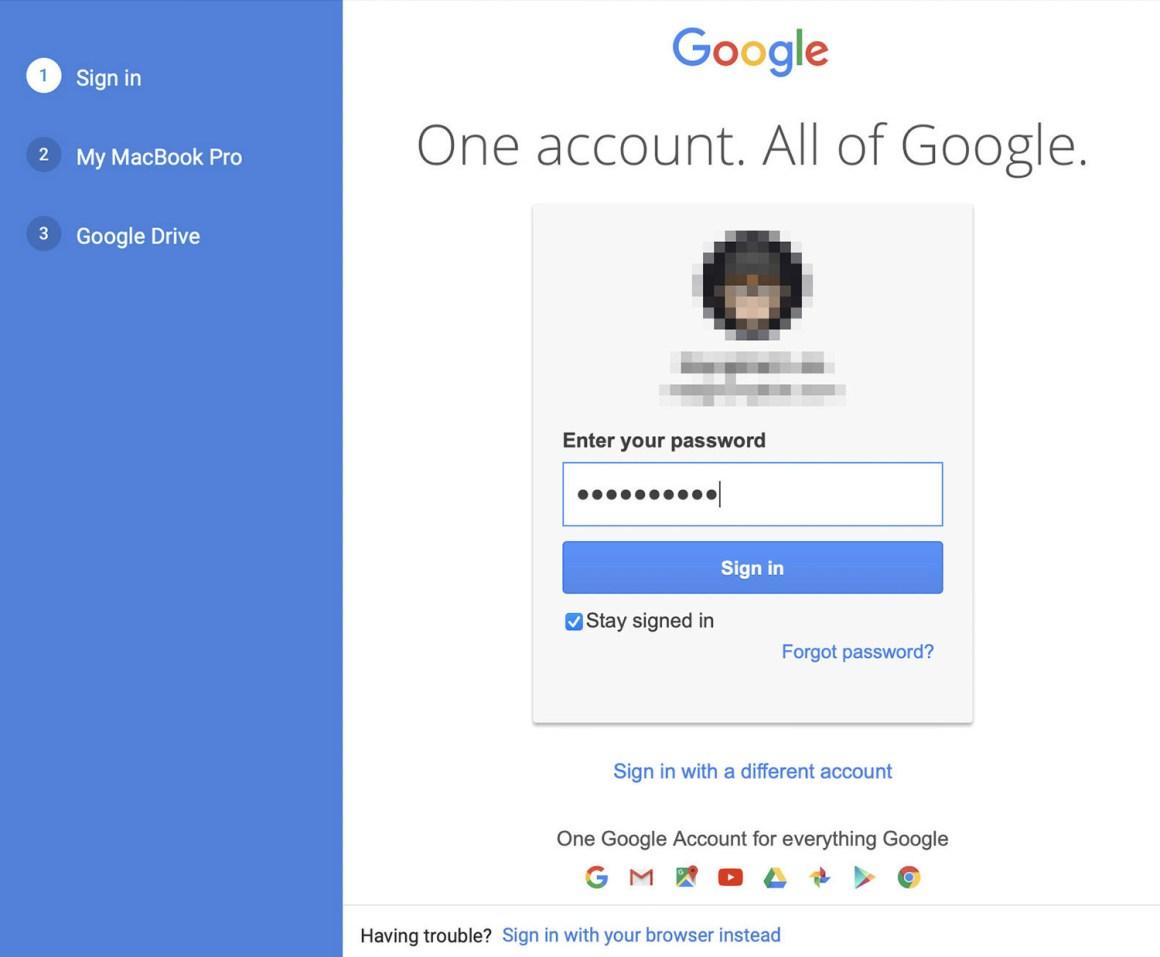 войдите в google