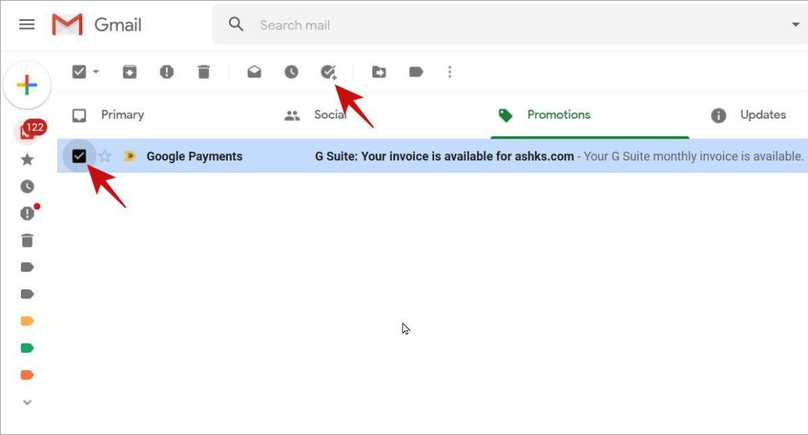 Создать задачу из письма в Gmail