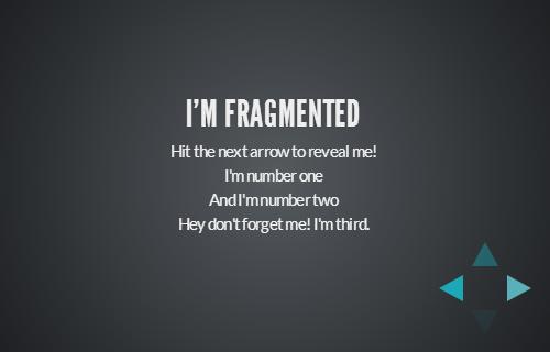 фрагментированный вид