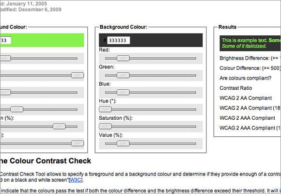 Цветовой Контраст График онлайн инструмент