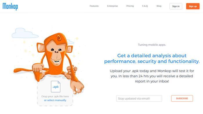 Monkop Целевая страница визуальный дизайн