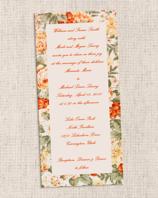 Thanksgiving Wedding Invitations | PaperInvite