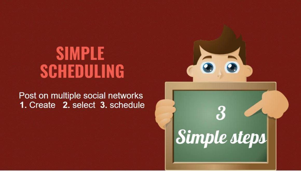 Slack Social позволяет составлять расписание в 3 этапа