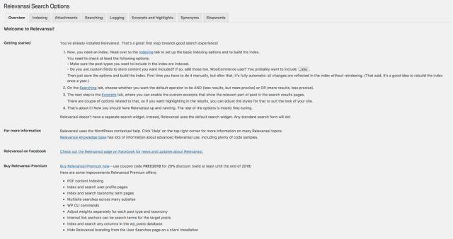 Relevanssi replaces default WordPress search