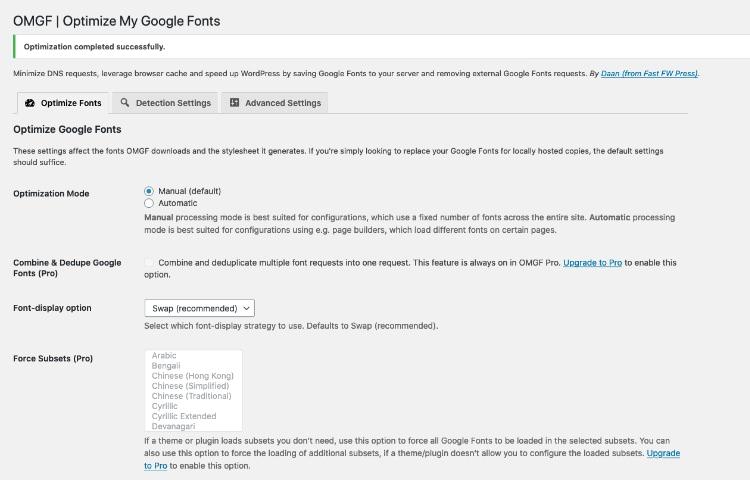 Размещение шрифтов Google