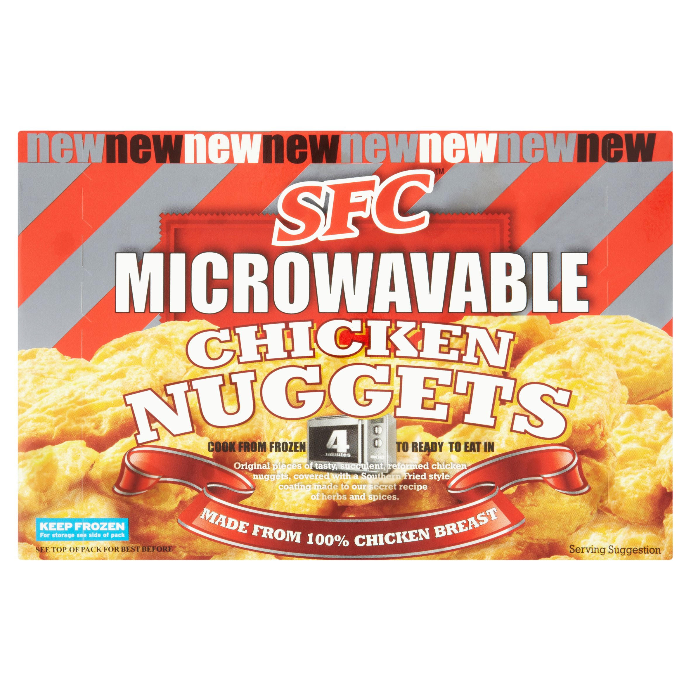 sfc microwavable chicken nuggets 190g