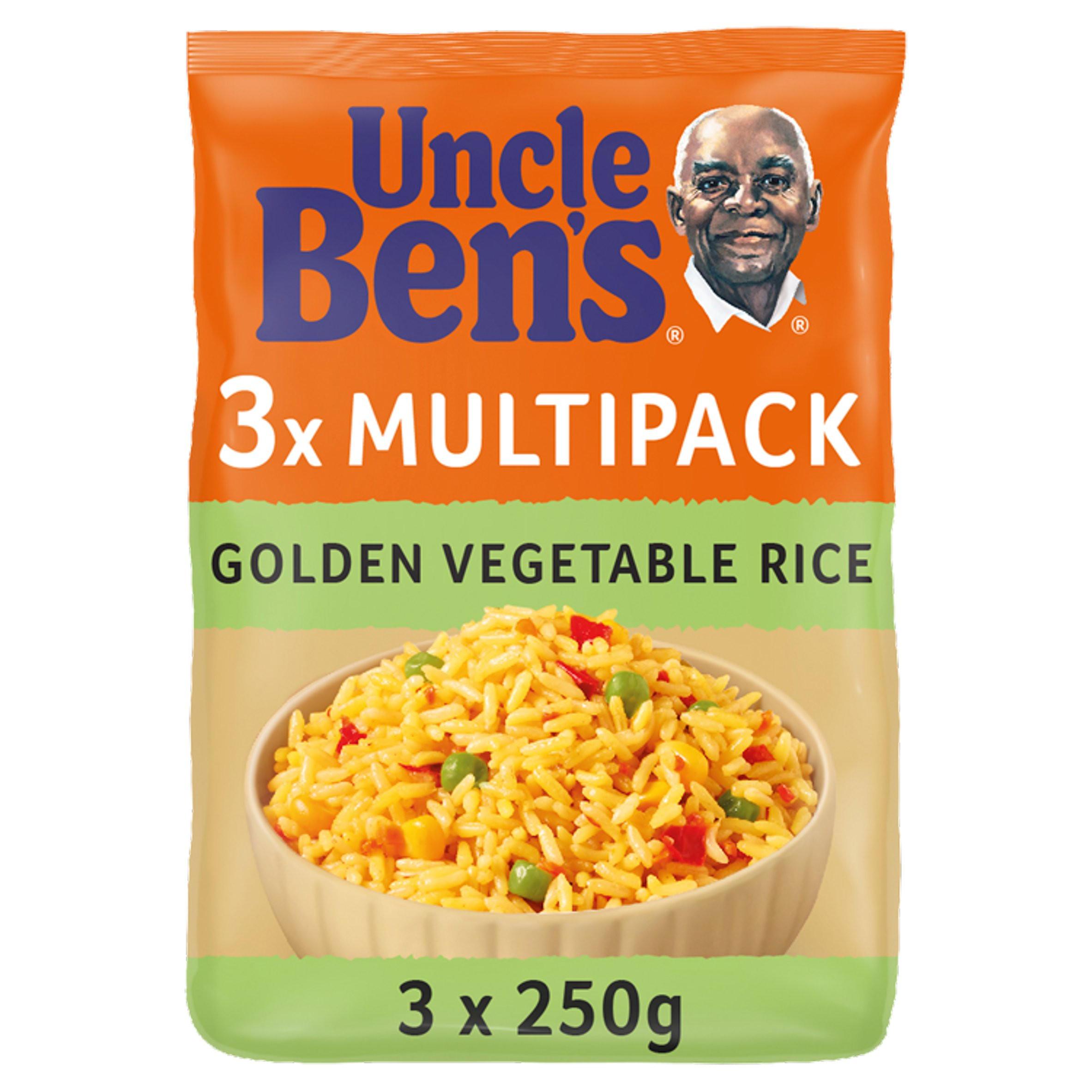 uncle bens golden vegetable microwave