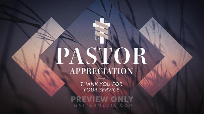 Pastor Appreciation - Title Graphics
