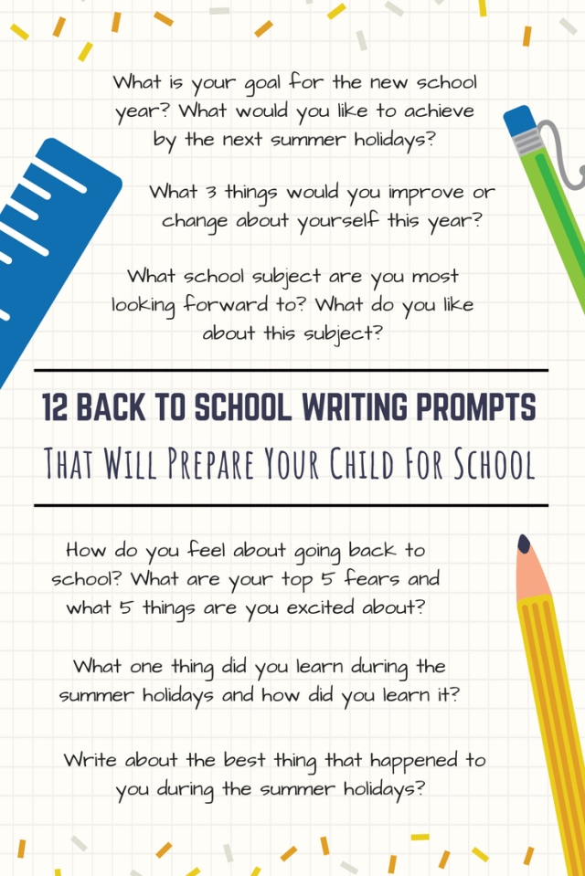 17 Back To School Writing Prompts To Help Your Child