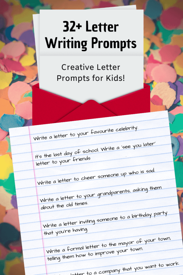 22+ Letter Writing Prompts: Letter Writing Ideas ✉️  Imagine Forest