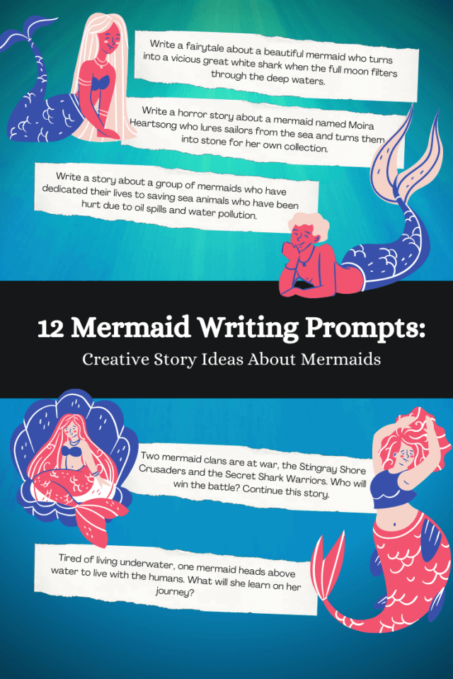 28 Mermaid Writing Prompts: Mermaid Story Ideas 🧜♀️  Imagine