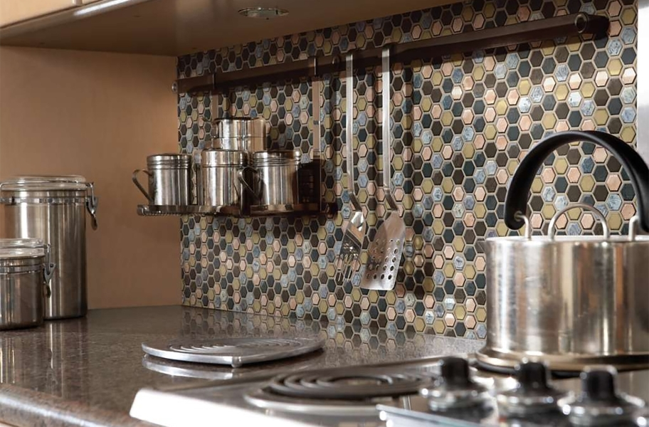 shaw molten glass mosaic