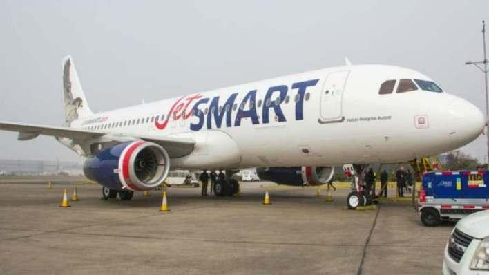 Jetsmart, otra línea aérea que había empezado a volar desde El Palomar.