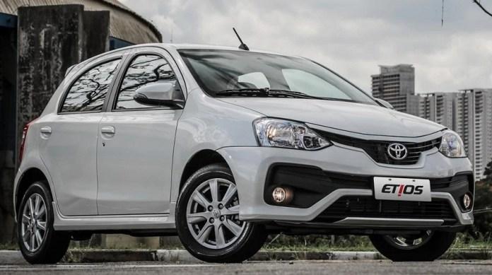 Toyota Etios, el modelo que menos aumentó de precio.