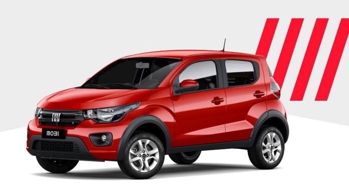 Fiat Mobi, uno de los autos más baratos del país.