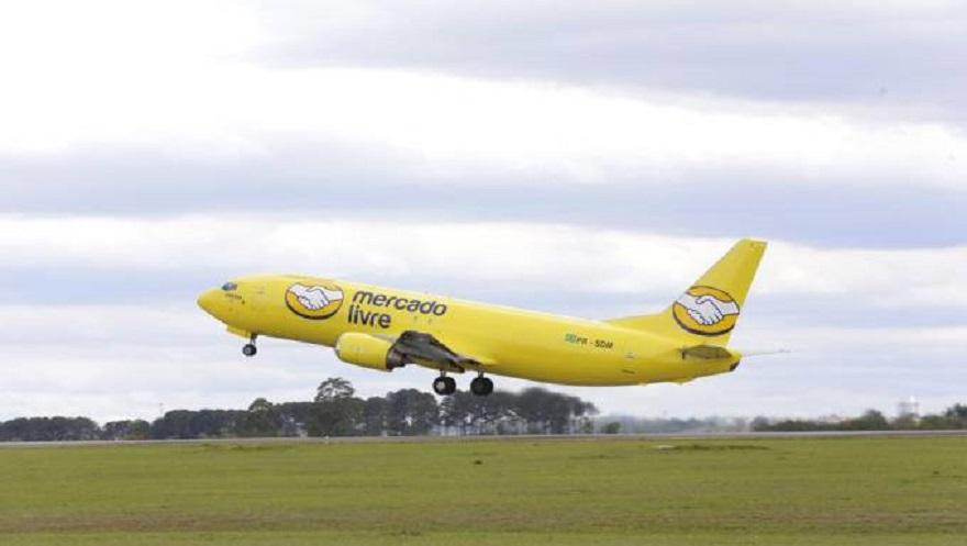 El avión de Mercado Libre en Brasil