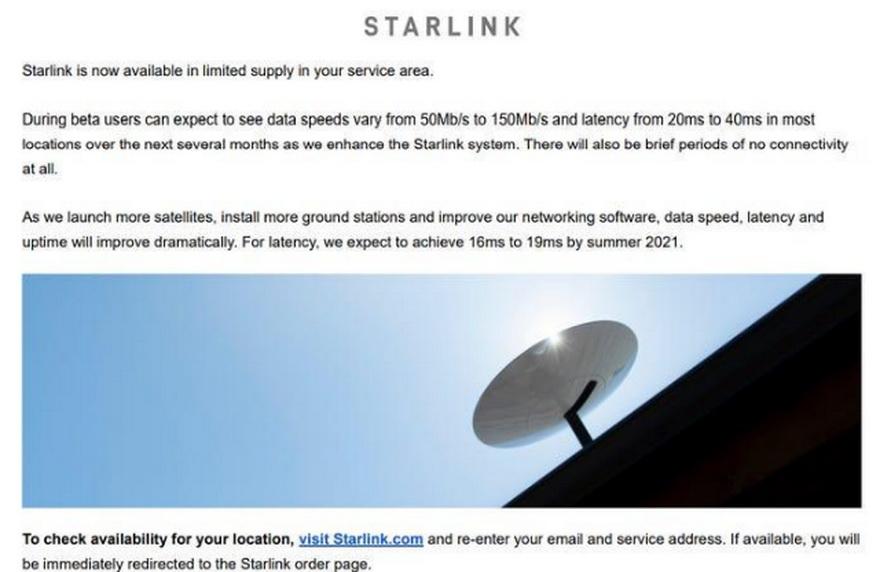 La opción de Starlink