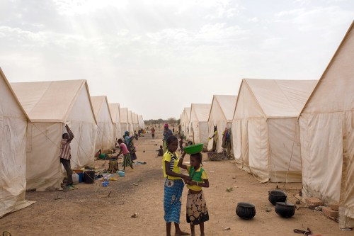 A camp for internally displaced people in northern Burkina Faso