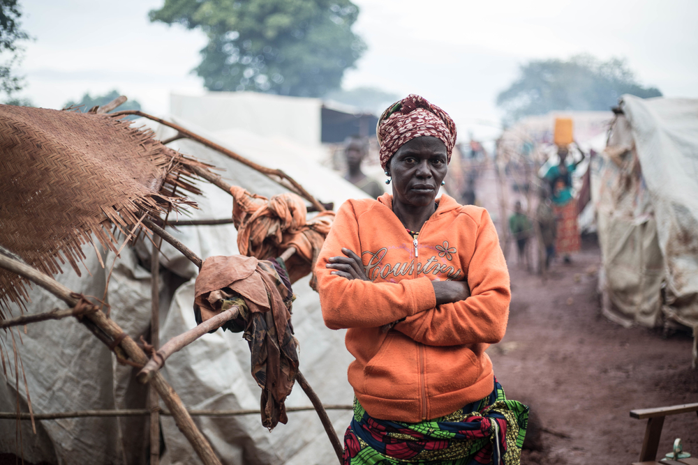 A camp for displaced people in Bria, Central African Republic