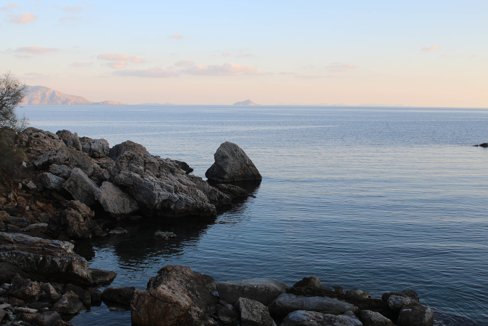 Ikaria's rocky, jagged coastline is full of coves where bodies, or parts of bodies, can become lodged, impossible to see or recover