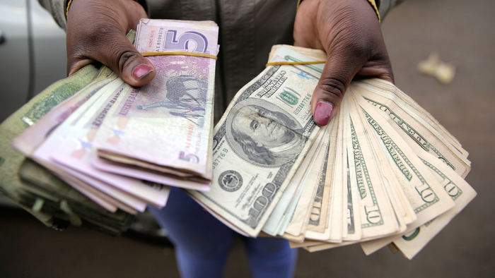Zimbabwe banned the use of the US dollar in June with the launch of a new local currency - but that is depreciating and the country is unofficially