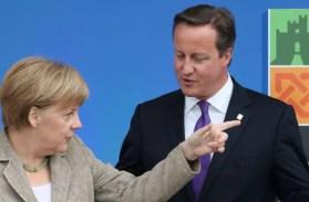 Bundeskanzlerin Angela Merkel und der britische Premier David Cameron: Wird Großbritannien vor die Tür gezeigt? Foto: picture alliance / empics