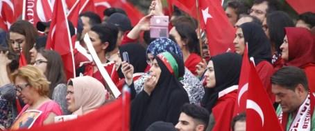 Erdogan-Demonstration in Köln: Seit 2014 SPD-Mitglied Foto: picture alliance/Geisler-Fotopress