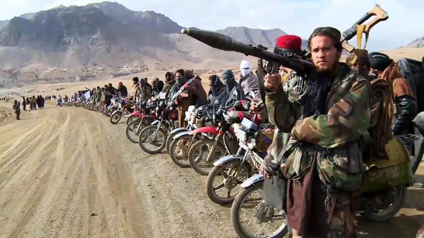 aliban-Kämpfer auf Mopeds Afghanistan