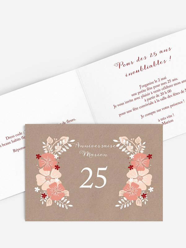 invitation anniversaire champetre printanier