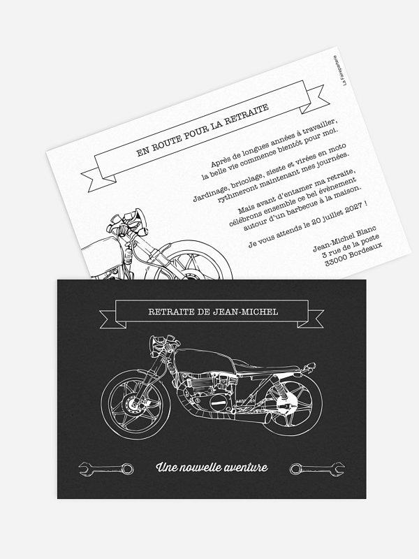 carte invitation depart retraite moto