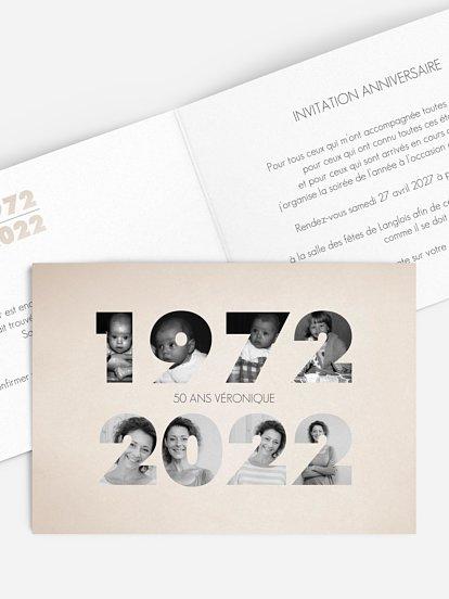 carte invitation anniversaire 50 ans