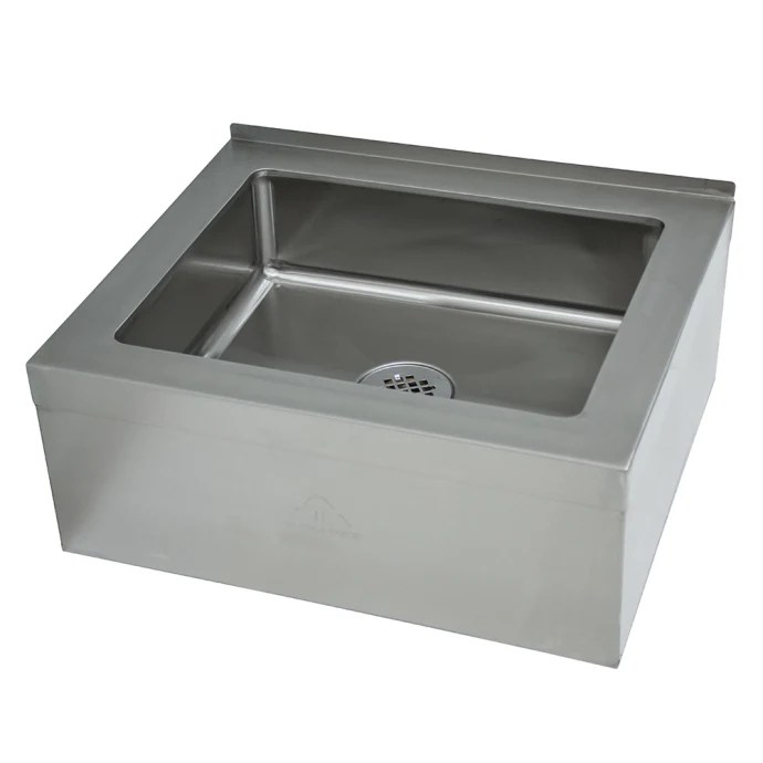 advance tabco 9 op 20 floor mount mop sink w 6 d bowl tile edge