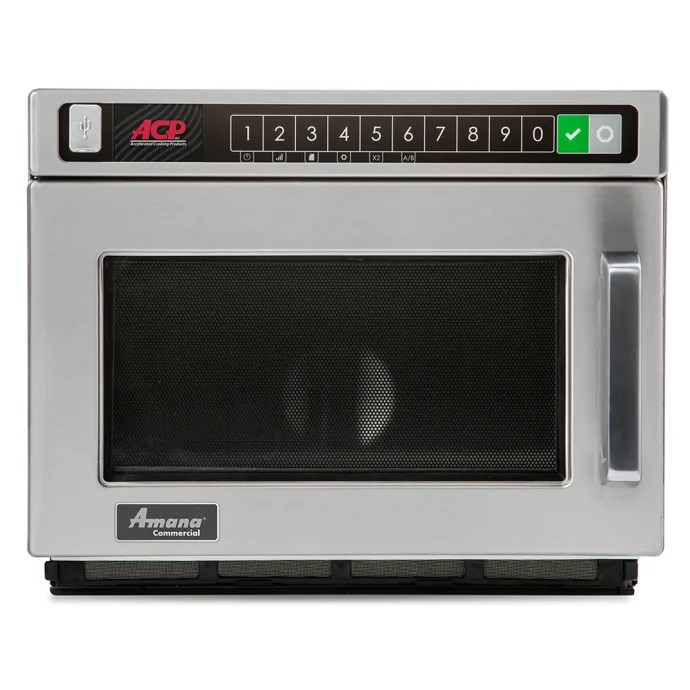 amana hdc12a2 1200w commercial microwave w touch pad 120v