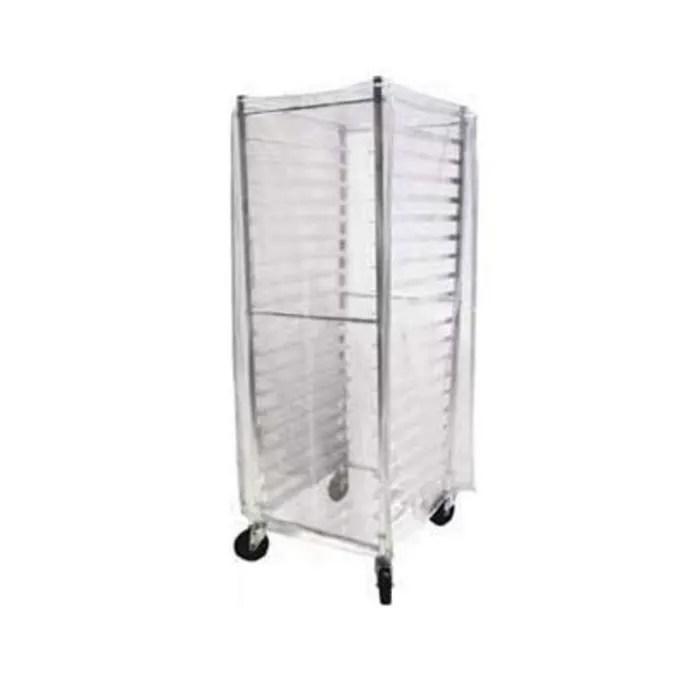 john boos abpr 1820 pc bun pan rack cover clear plastic
