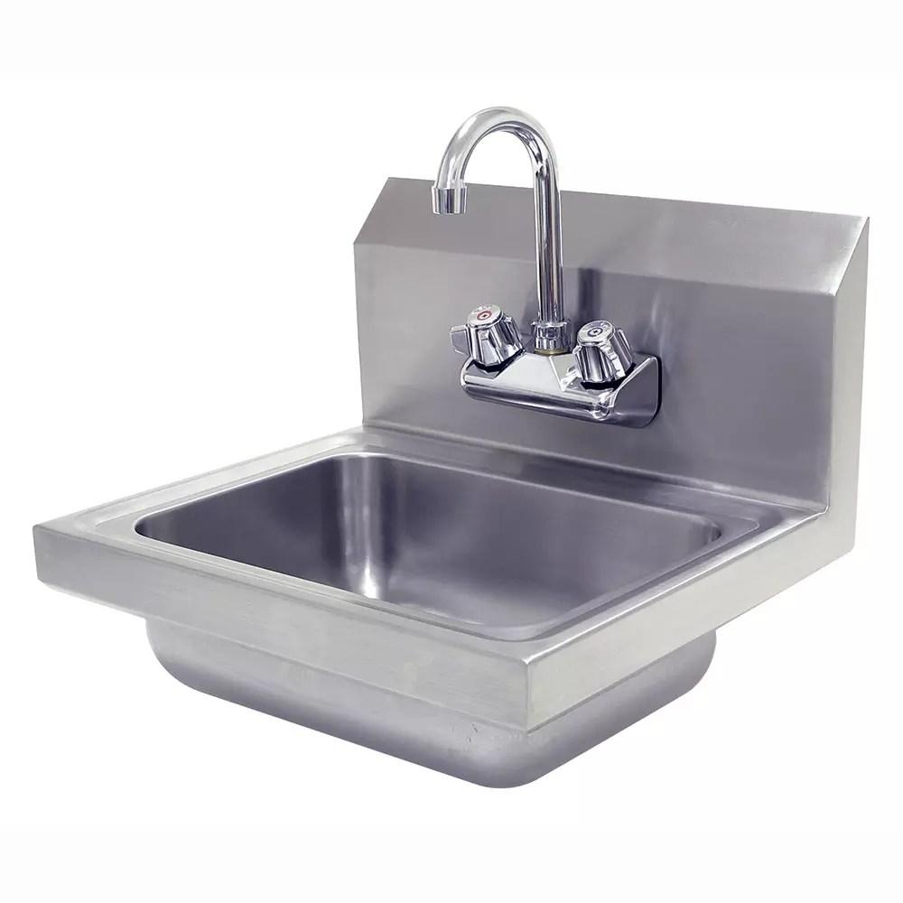 advance tabco 7 ps ec wall mount commercial hand sink w 14 l x 10 w x 5 d bowl basket drain