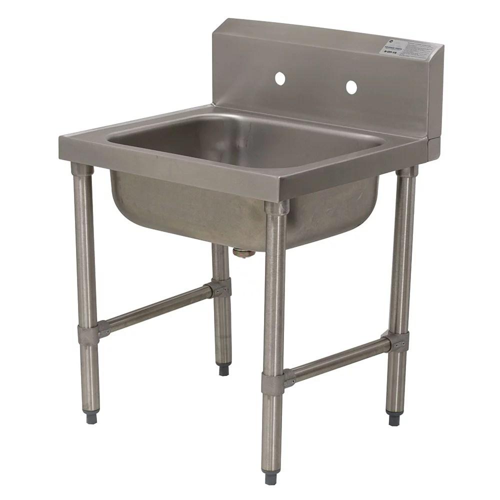 advance tabco 8 op 16 standing mop sink w 8 d bowl basket drain